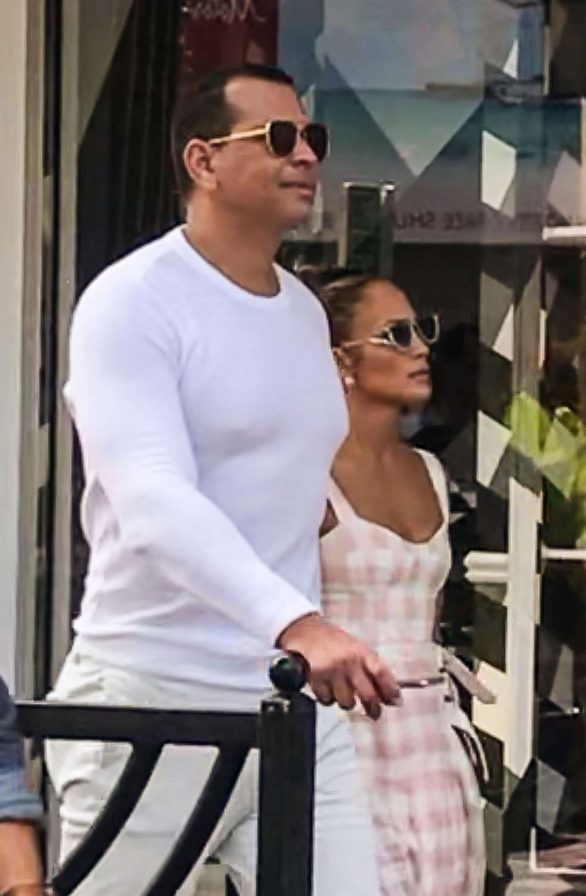 Jennifer Lopez and Alex Rodriguez on a romantic vacation in Cannes