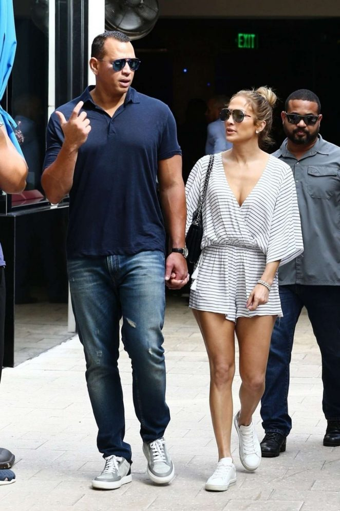 Jennifer Lopez and Alex Rodriguez - Out in Miami