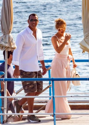 Jennifer Lopez and Alex Rodriguez - Out in Nerano