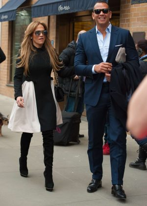 Jennifer Lopez and Alex Rodriguez out in New York City