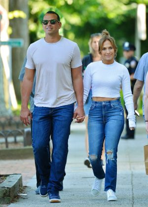 Jennifer Lopez and Alex Rodriguez out in the Hamptons
