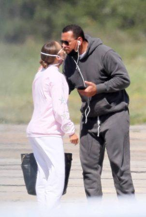 Jennifer Lopez and Alex Rodriguez - Seen leaving the Hamptons