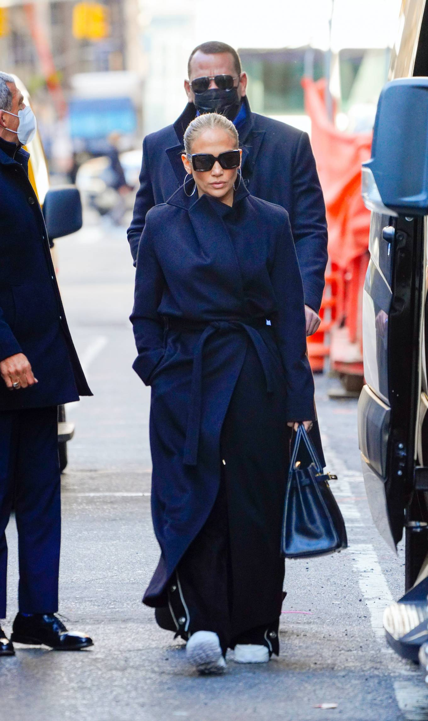 Jennifer Lopez and Alex Rodriguez wear matching coats in New York