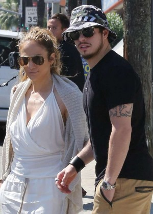 Jennifer Lopez and Casper Smart out in Hollywood