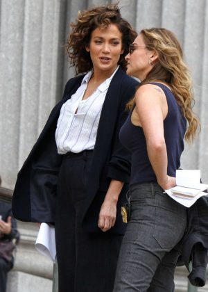 Jennifer Lopez and Drea de Matteo on 'Shades of Blue' Set in Manhattan