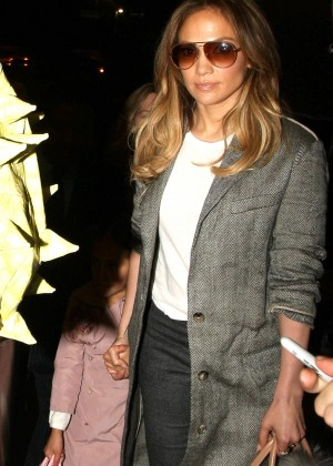 Jennifer Lopez and her Family at LAX Airport in Los Angeles