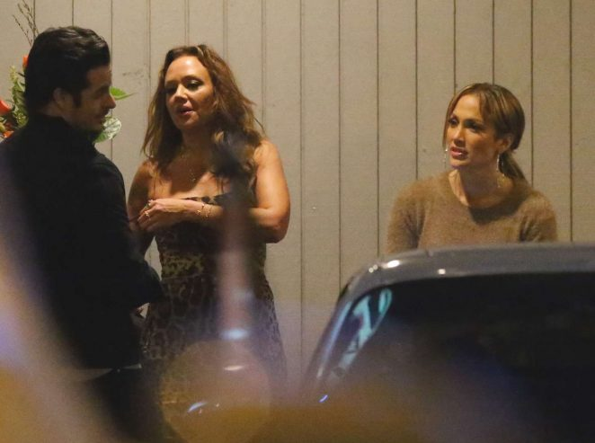 Jennifer Lopez and Leah Remini - Night out in Los Angeles