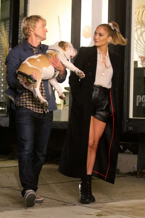 Jennifer Lopez and Owen Wilson - Filming 'Marry Me' set in Brooklyn