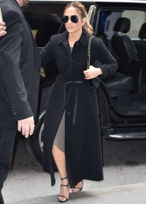 Jennifer Lopez - Arrives at NBC studios in New York