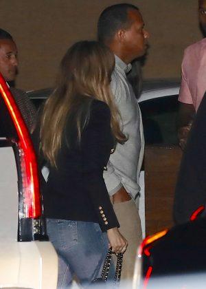 Jennifer Lopez Arrives at Nobu in Malibu