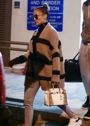 Jennifer Lopez - Arrives at Opa-locka Airport in Florida