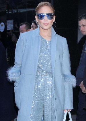 Jennifer Lopez - Arrives on 'Good Morning America' in New York