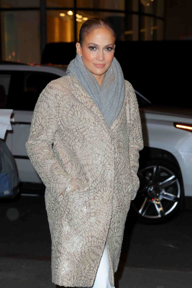 Jennifer Lopez - Arriving at Rainbow Room for film the 'Second Act' in NYC