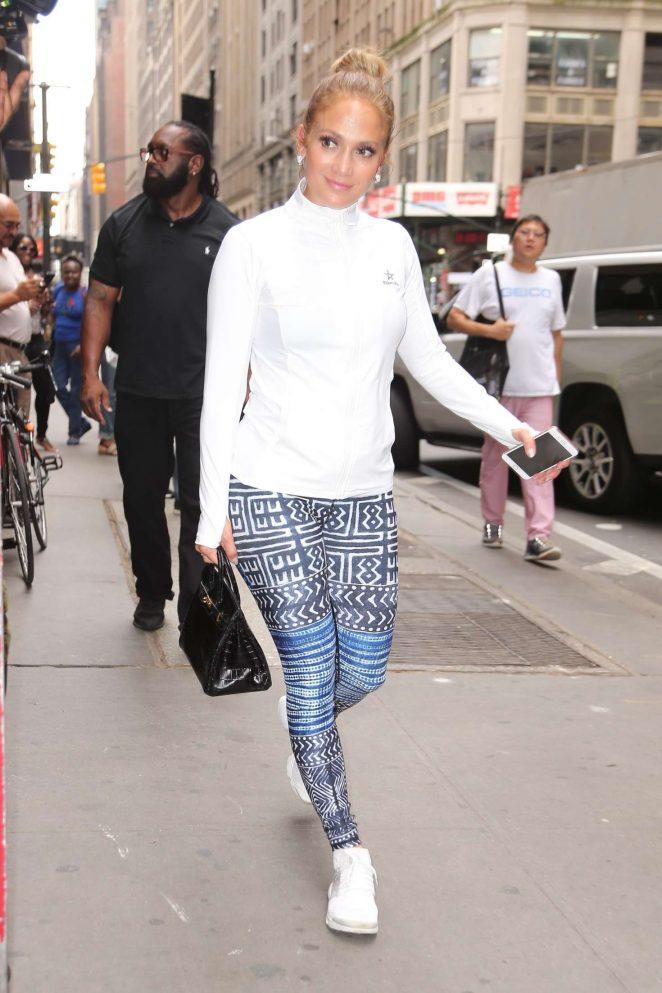 Jennifer Lopez: Arriving at Ripley-Grier Studios -11
