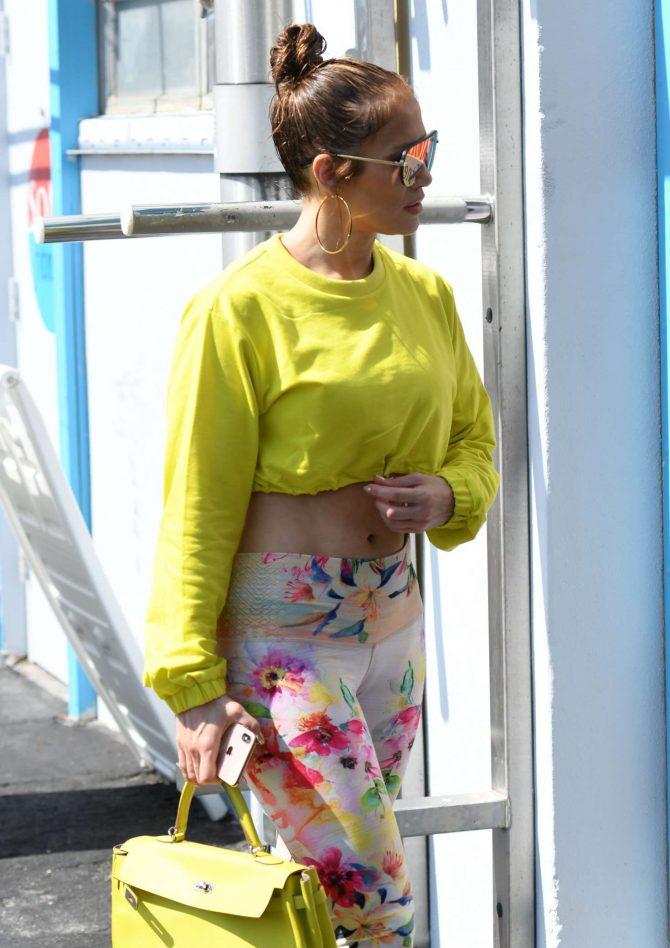 Jennifer Lopez - Arriving at SOMI Gym in Miami