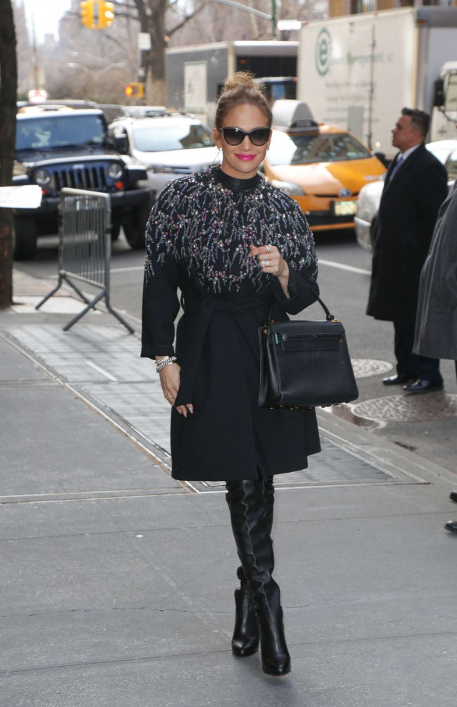 Jennifer Lopez at ABC's 'The View' in New York