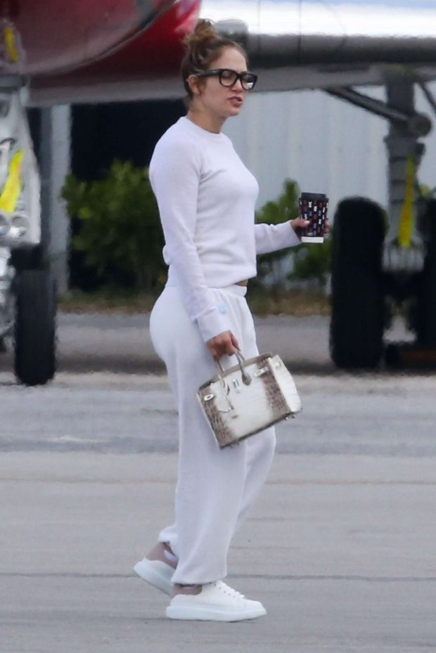 Jennifer Lopez at an airport in Miami