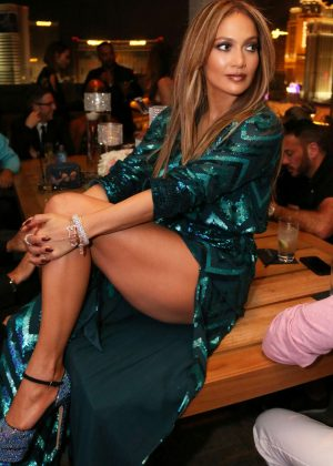 Jennifer Lopez at Her 47th Birthday Perty in Las Vegas