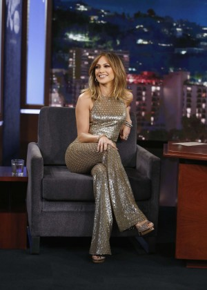 Jennifer Lopez at 'Jimmy Kimmel Live' in LA