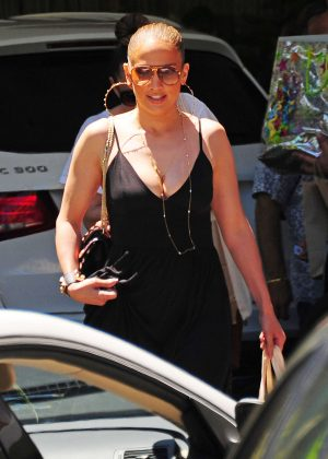 Jennifer Lopez at Lido Spa in the Standart Hotel in Miami