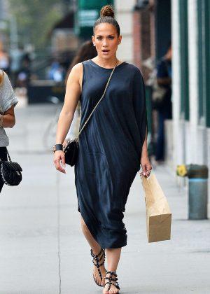 Jennifer Lopez at Locanda Verde in New York
