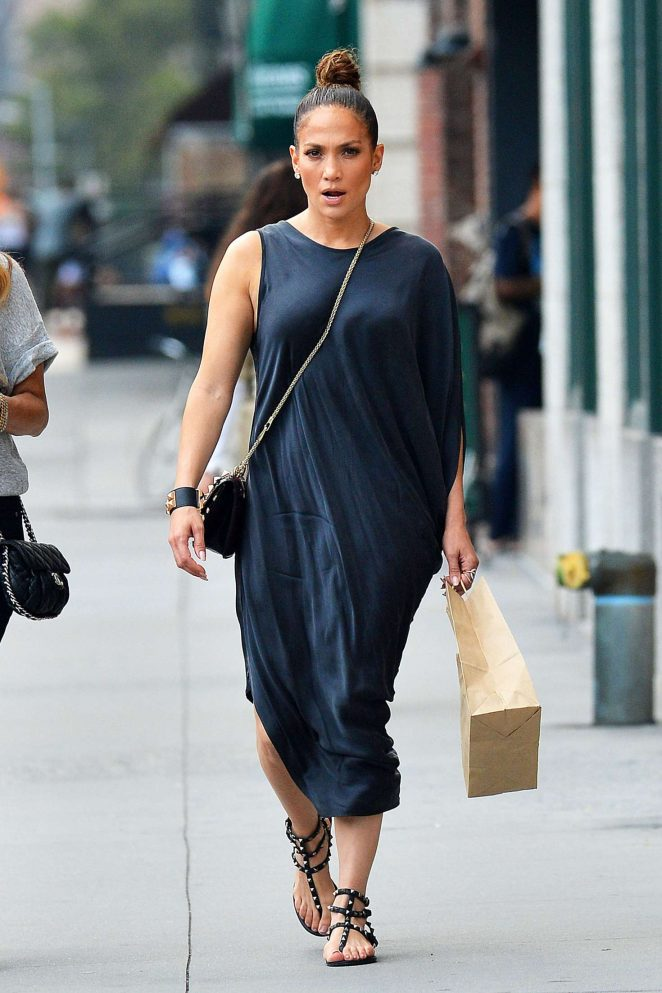 Jennifer Lopez at Locanda Verde in New York