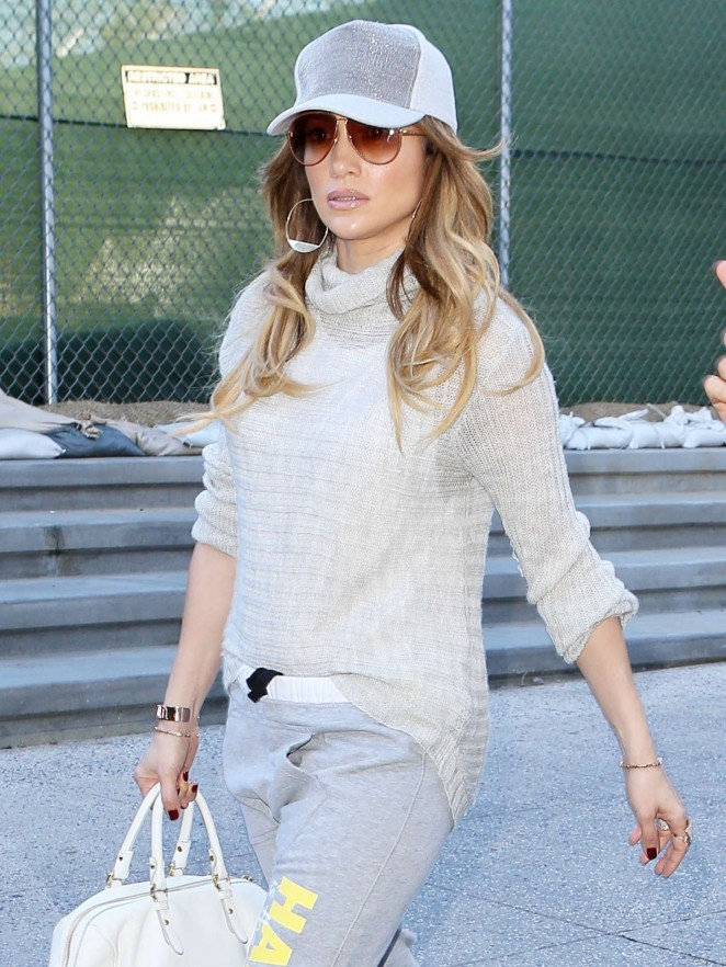 Jennifer Lopez at Los Angeles International Airport
