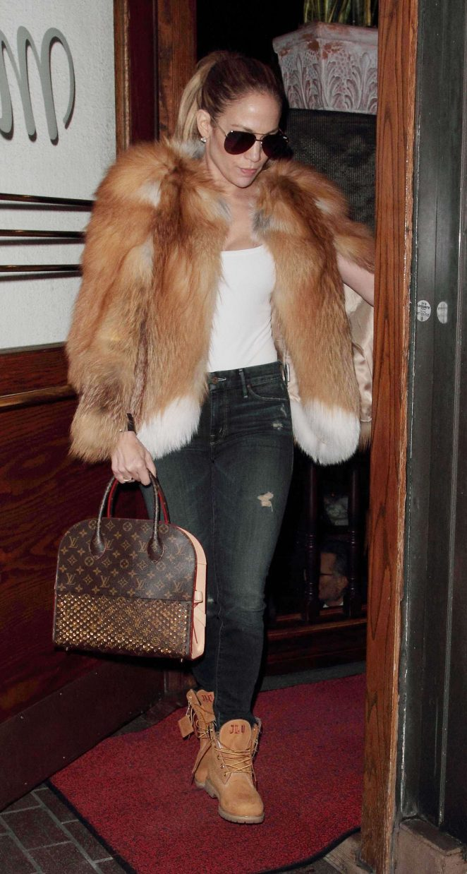 Jennifer Lopez at Madeo restaurant in Hollywood