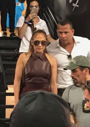 Jennifer Lopez at Major League Baseball's five-day FanFest in Miami