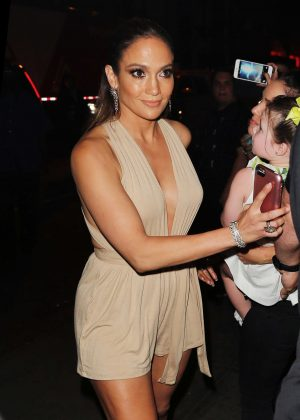 Jennifer Lopez at Marc Anthony's Concert in New York City