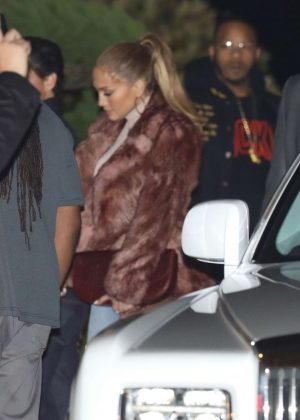 Jennifer Lopez at Nobu in Malibu