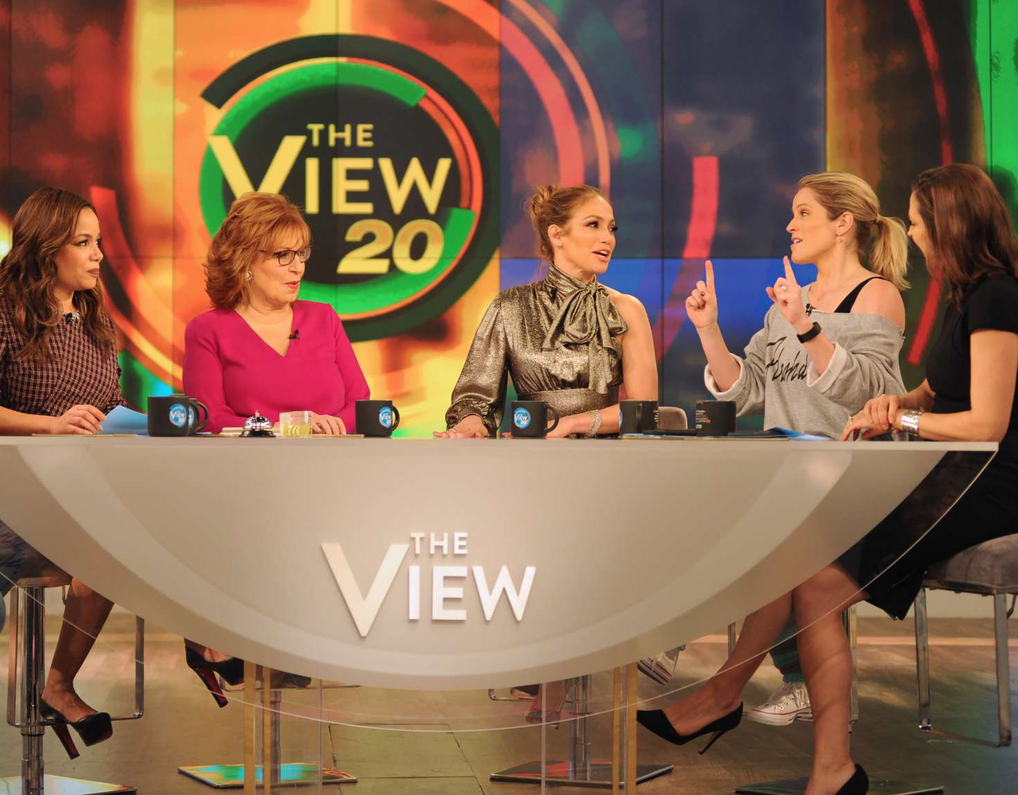 Jennifer Lopez at The View TV show -08