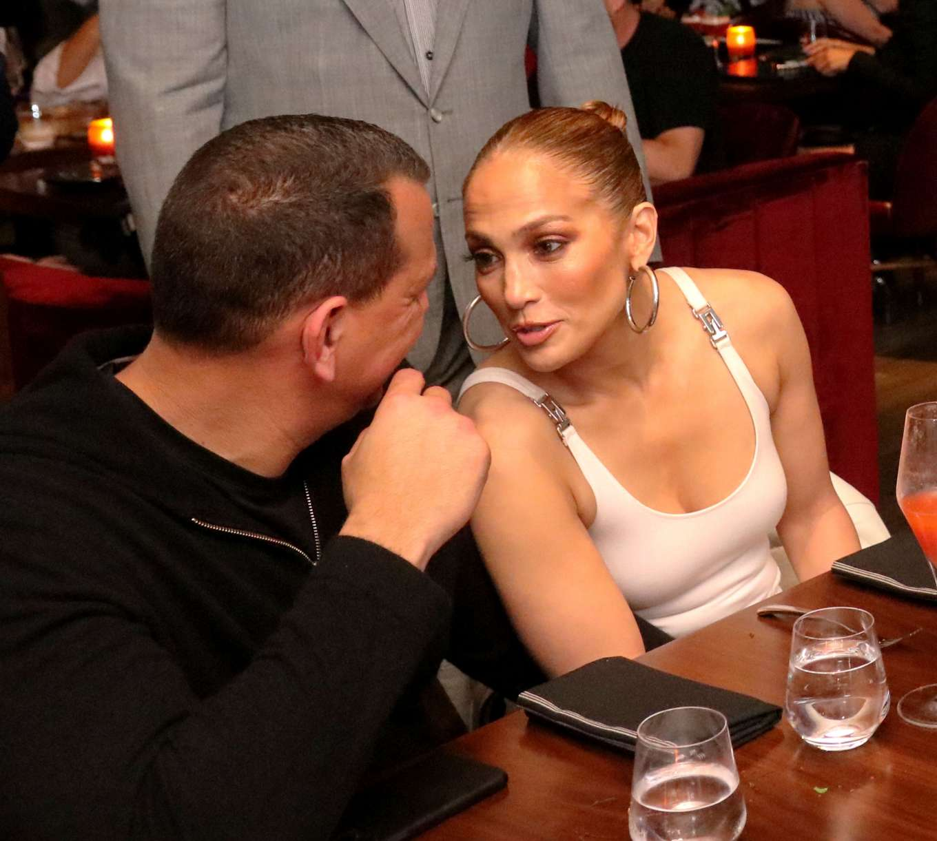 Jennifer Lopez - Benny Medina Birthday at Papi Steak in Miami Beach