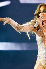 Jennifer Lopez - Celebrate Her 50th Birthday on Stage in Moscow