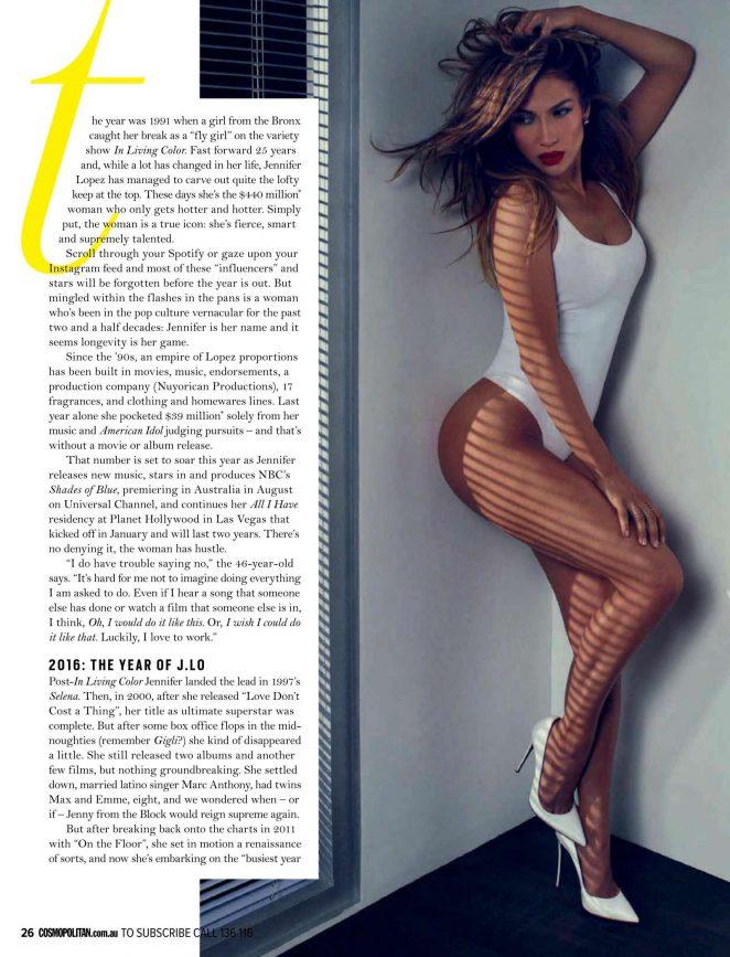 Jennifer Lopez 2016 : Jennifer Lopez: Cosmopolitan Australia 2016 -05