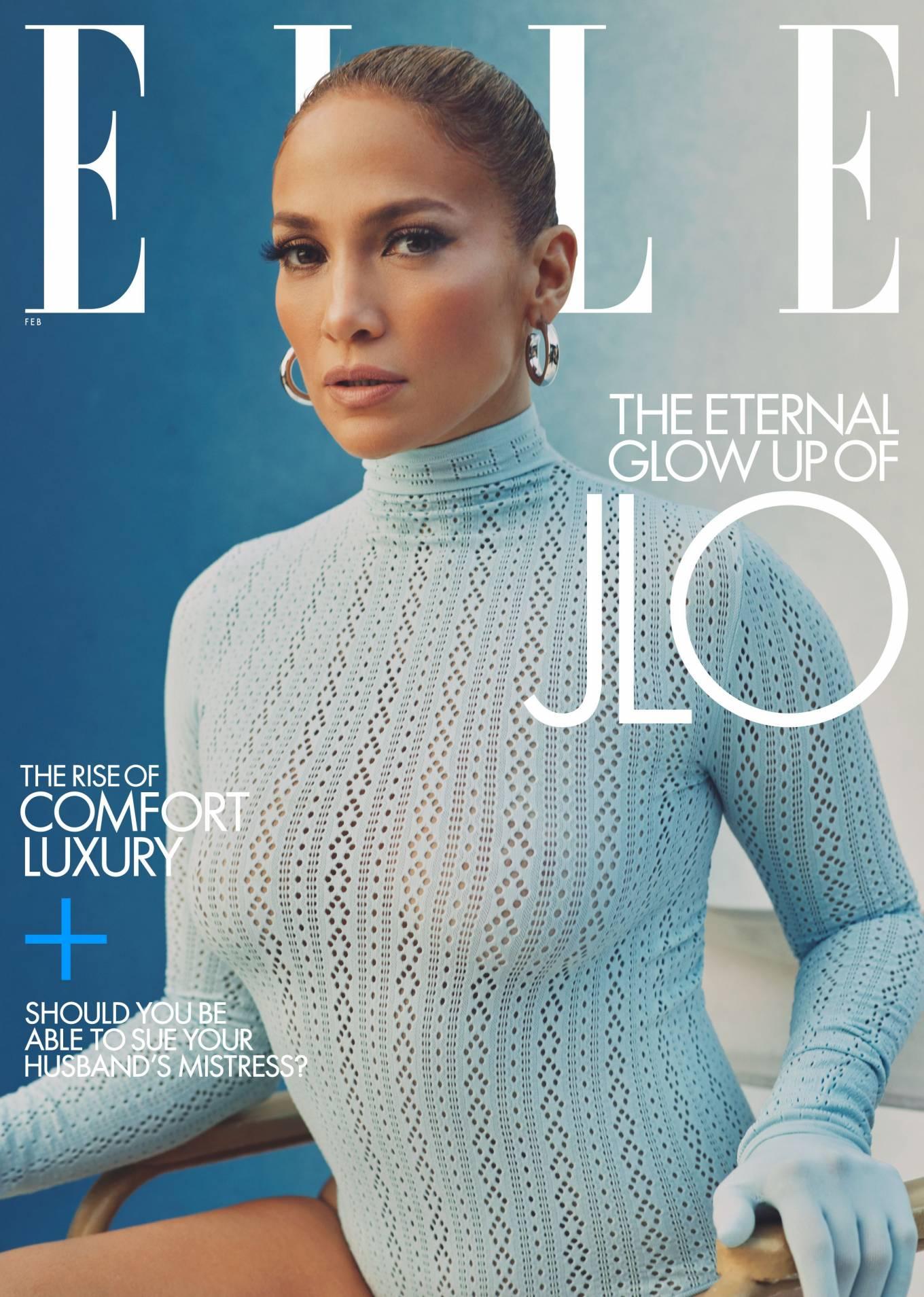 Jennifer Lopez - Elle by Micaiah Carter (February 2021)