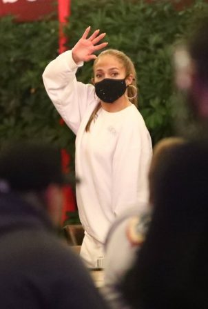 Jennifer Lopez - Exit after dinner at Matsuhisa in Beverly Hills