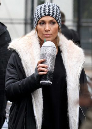 Jennifer Lopez - Filming scenes for her upcoming project 'Second Act' in NY