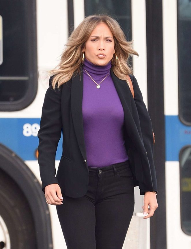 Jennifer Lopez - Filming 'Second Act' movie set in Queens