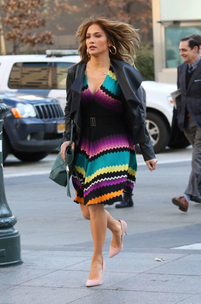 Jennifer Lopez - Filming 'Second Act' Set in New York