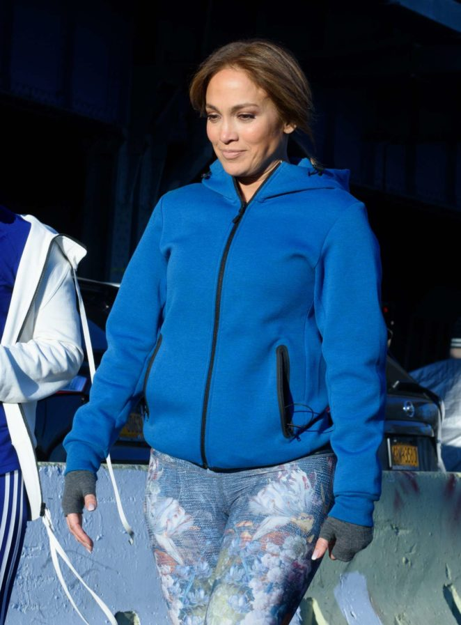 Jennifer Lopez – Filming 'Second Act' set in NYC