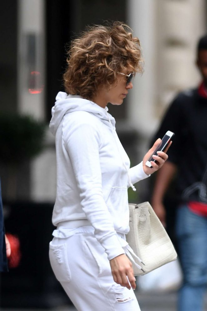 Jennifer Lopez heading to the set of 'Shades Of Blue' in New York City
