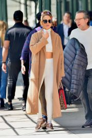 Jennifer Lopez - Heads out to film Hustlers in New York City