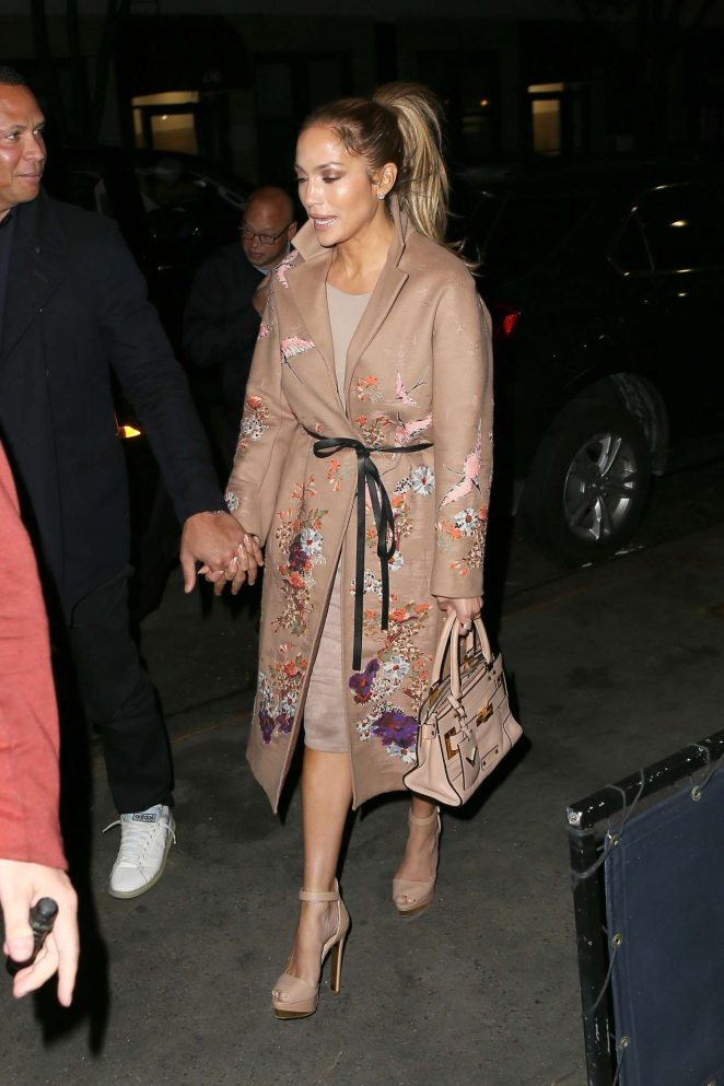 Jennifer Lopez - Heads to a dinner in the West Village