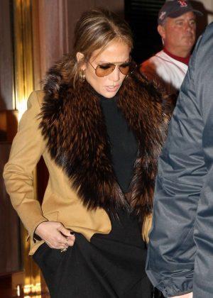 Jennifer Lopez - Heads to Fenway Park in Boston