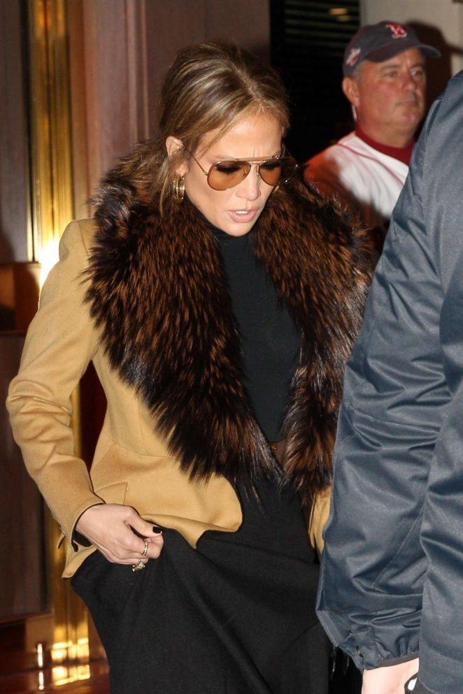 Jennifer Lopez – Heads to Fenway Park in Boston