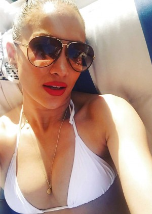 Jennifer Lopez in Bikini Top - Instagram