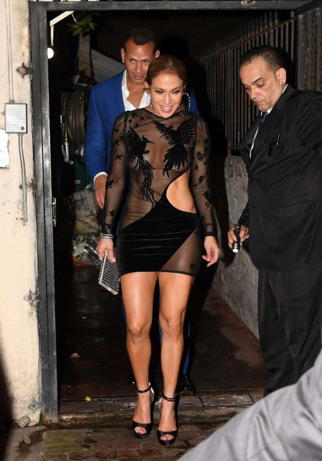 Jennifer Lopez in Black Mini Dress -06