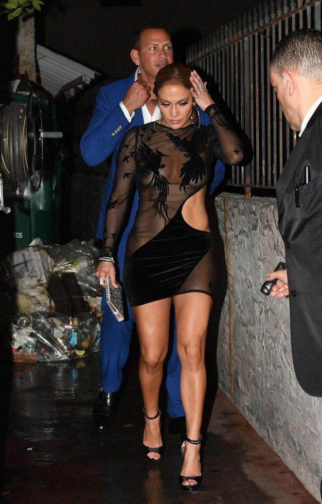Jennifer Lopez in Black Mini Dress -08