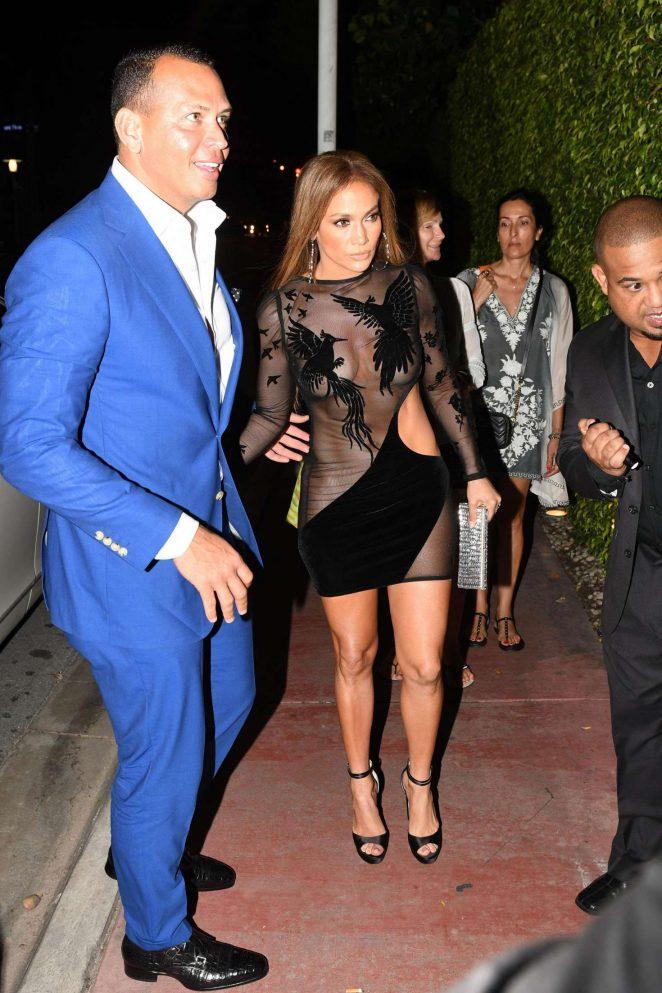 Jennifer Lopez in Black Mini Dress -12